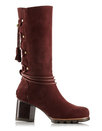 Sorel Farah Suede Calf Boots-RED-7