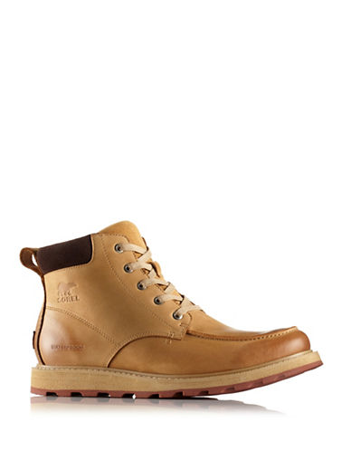 Sorel Madson Moc Toe Nubuck Rain Boots-TAN-7.5