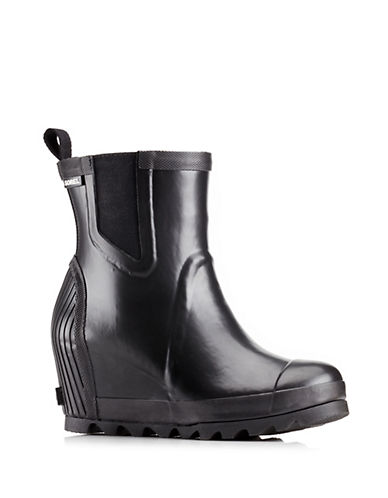 Sorel Joan Rain Wedge Chelsea Boots-BLACK-6