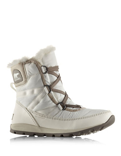 Sorel Whitney Faux Fur-Trimmed Lace-Up Boots-WHITE-8