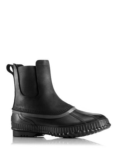 Sorel Cheyanne Leather Chelsea Boots-BLACK-12