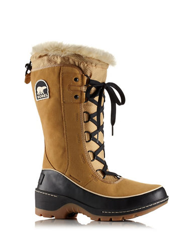 Sorel Tivoli Faux Fur Mid-Calf Boots-TAN-7.5