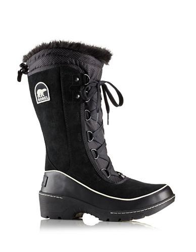 Sorel Tivoli Faux Fur Mid-Calf Boots-BLACK-7.5