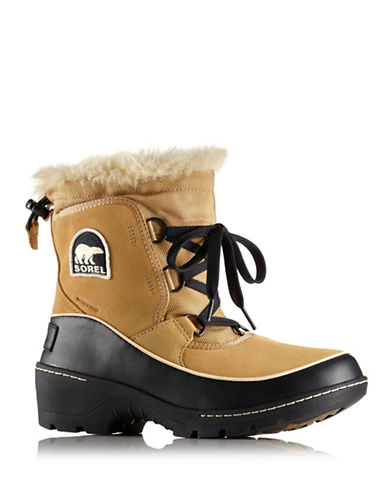 Sorel Tivoli III Boots with Faux Fur-TAN-9