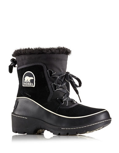 Sorel Tivoli III Boots with Faux Fur-BLACK-6.5