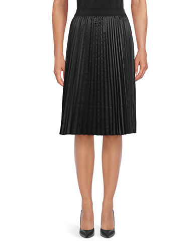 T Tahari Phoebe Pleated Skirt-BLACK-Large