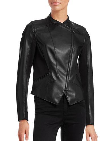 T Tahari Oriana Handkerchief Moto Jacket-BLACK-X-Small 88594461_BLACK_X-Small