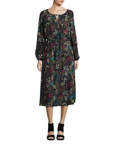 e993ca7713 190553048106. T Tahari Marisole Floral-Printed Midi ...