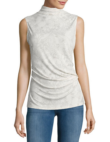 T Tahari Cecily Knit Floral Top-WHITE-Small 88981141_WHITE_Small