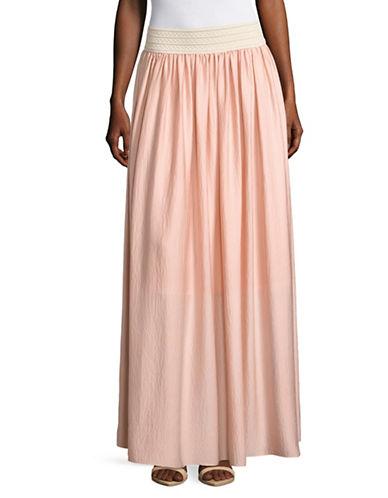 T Tahari Farrah A-Line Skirt-PINK-Large