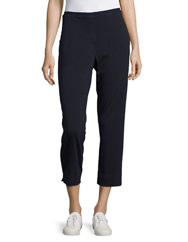 T Tahari Connie Ponte Pants-NAVY-Small