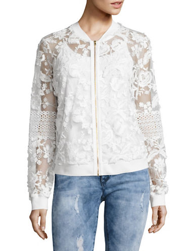 T Tahari Vienna Embroidered Jacket-WHITE-X-Large 89195921_WHITE_X-Large
