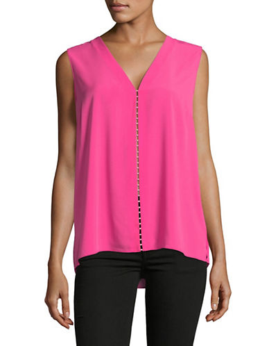 T Tahari Maura Sleeveless Blouse-PINK-Medium