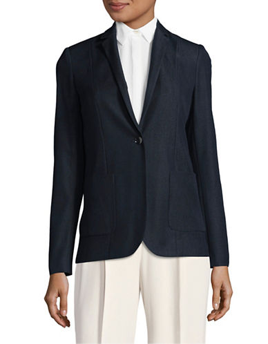 T Tahari Denim Blazer-BLUE-12