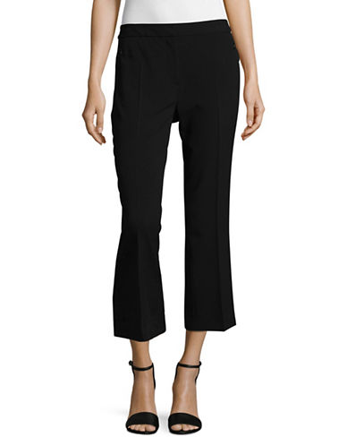 T Tahari Straight Cropped Dress Pants-BLACK-10
