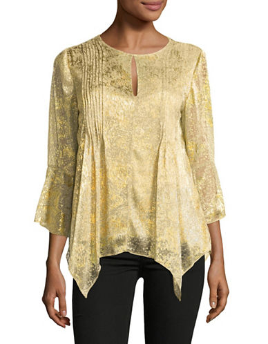 T Tahari Kate Blouse-GOLD-X-Small