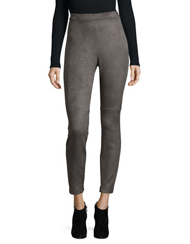T Tahari Crop Roxanna Pants-GREY-Small