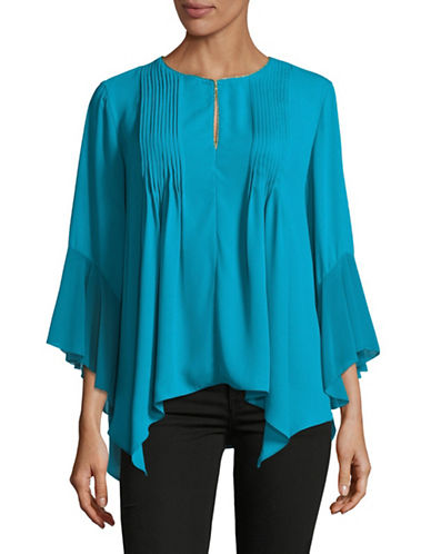 T Tahari Kate Blouse-BLUE-X-Small