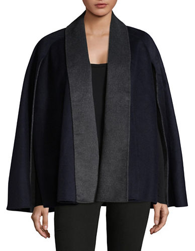 T Tahari Gabby Coat-NAVY/CHARCOAL-Medium