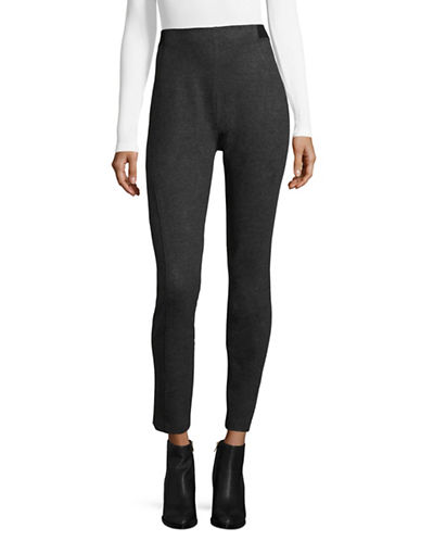 T Tahari Nadine Solid Leggings-GREY-X-Small