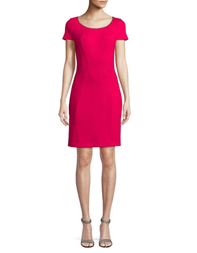T Tahari Pepita Cap-Sleeve Dress-PINK-2