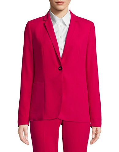T Tahari Reisling Notch Lapel Jacket-RED-6