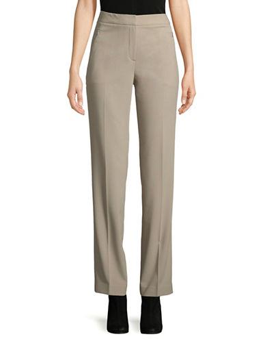 T Tahari Eliza Classic Pants-BEIGE-10