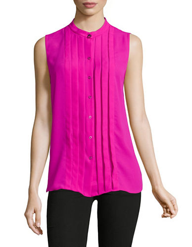 T Tahari Emerson Sleeveless Blouse-MAGENTA-Small