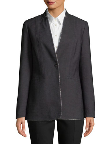 T Tahari Bowen Notch Collar Jacket-BLACK-2