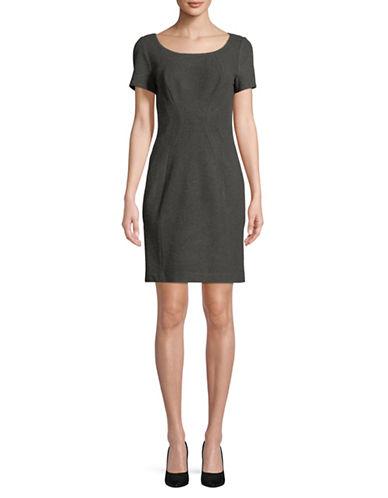 T Tahari Pepita Short Sleeve Dress-GREY-16