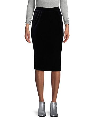 T Tahari Lorayna Velvet Skirt-BLUE-Small