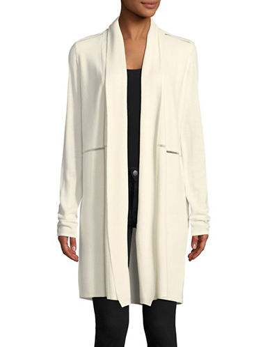 T Tahari Ianne Cardigan-BEIGE-Small