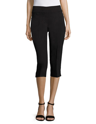 Ruby Rd Slimming Contour Capri Pants-BLACK-14