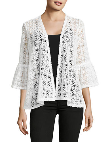 Ruby Rd Open-Front Crochet Jacket-WHITE-Medium 89191368_WHITE_Medium