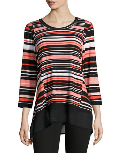 Ruby Rd Stripe Top-MULTI-Medium