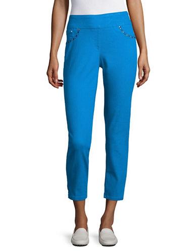 Ruby Rd Embellished Slimming Ankle Jeggings-BLUE-18