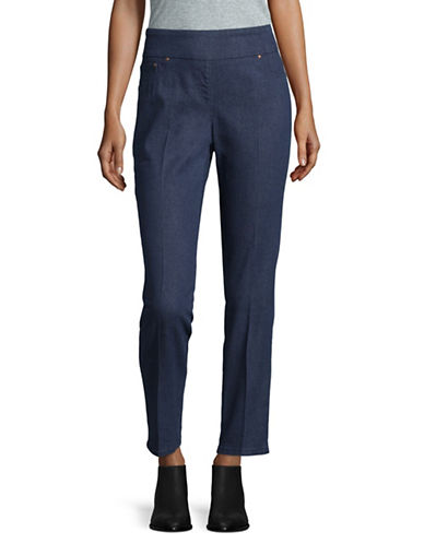 Ruby Rd Stretch Denim Pants-BLUE-10