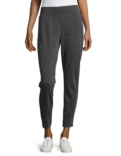 Ruby Rd Cropped Ponte Leggings-GREY-Large