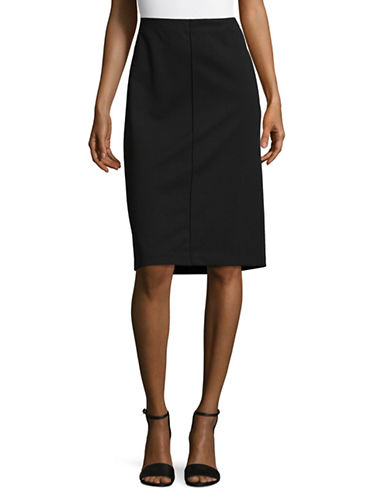 Ruby Rd Pencil Skirt-BLACK-X-Large