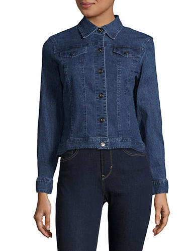 Ruby Rd Stretch Denim Jacket-BLUE-18