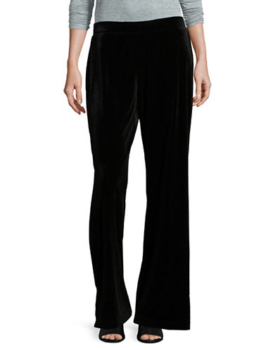 Ruby Rd Velvet Wide-Leg Pants-BLACK-Medium
