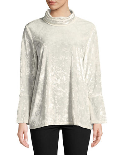 Ruby Rd Bell-Sleeve Velvet Tunic-NATURAL-Small
