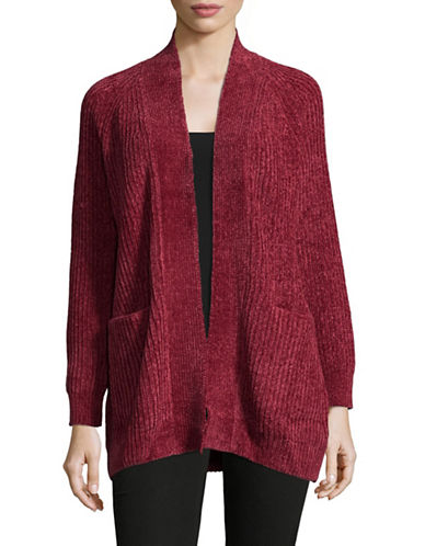 Ruby Rd Chenille Cardigan-RED-Large