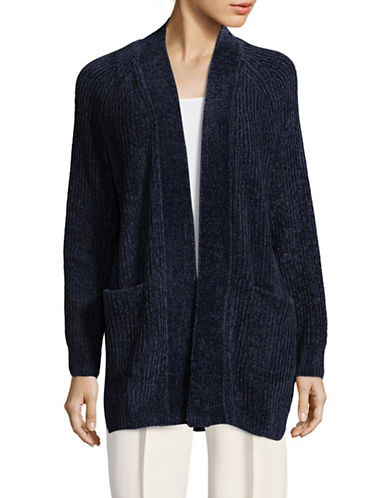 Ruby Rd Chenille Cardigan-BLUE-Medium