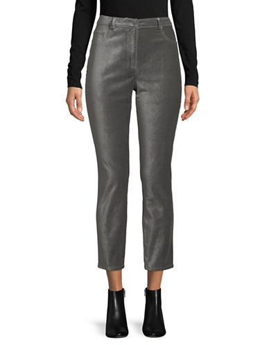 Ruby Rd Velveteen Ankle Pants-GRAPHITE-14