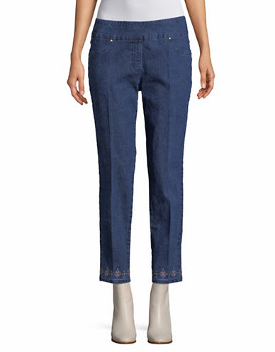 Ruby Rd Alt Denim Ankle Pants-INDIGO-12