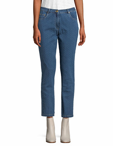 Ruby Rd Alt Dobby Ankle Jeans-BLUE-10