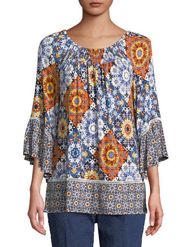 Ruby Rd Medallion Top-NAVY-Medium