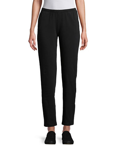 Ruby Rd Cotton-Blend Stretch Pants-BLACK-Small