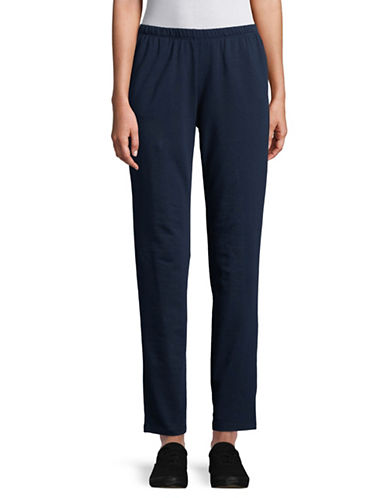 Ruby Rd Cotton-Blend Stretch Pants-NAVY-Small